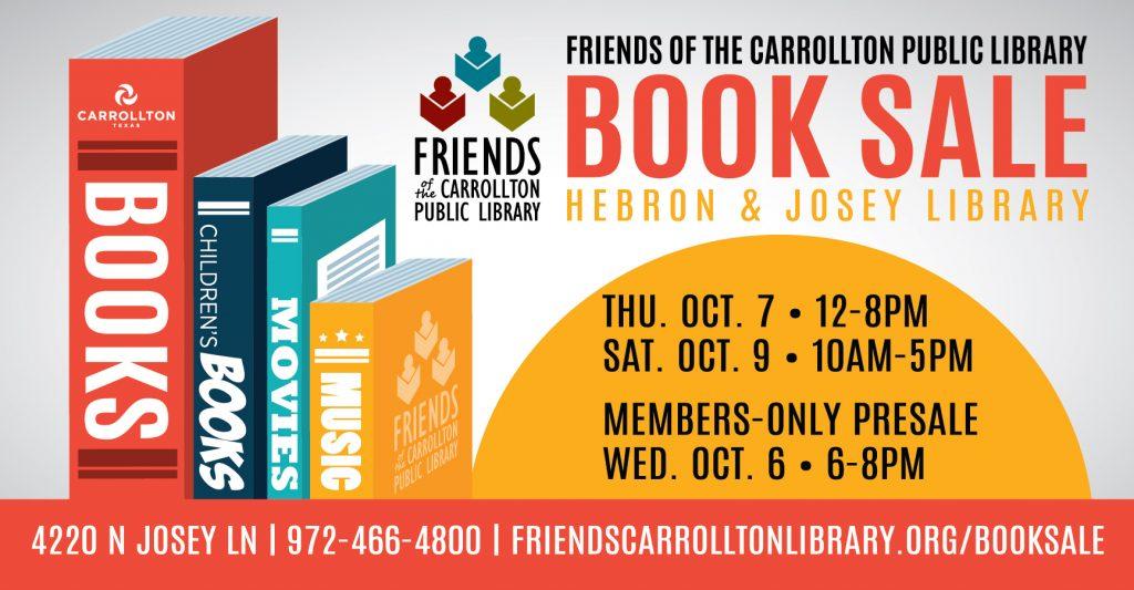 Book Sale October 7 & 9, with Presale October 6